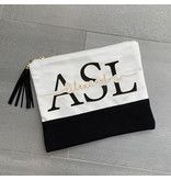 Custom Monogram Zip Pouch