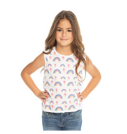 Chaser Rainbows & Ice Cream Print Tank