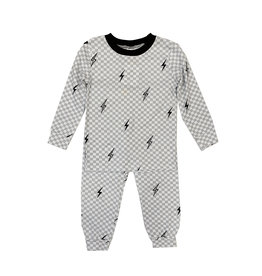 Esme Checker Bolts PJ Set
