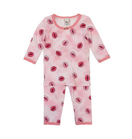 Esme Infant Pink Kisses PJ Set