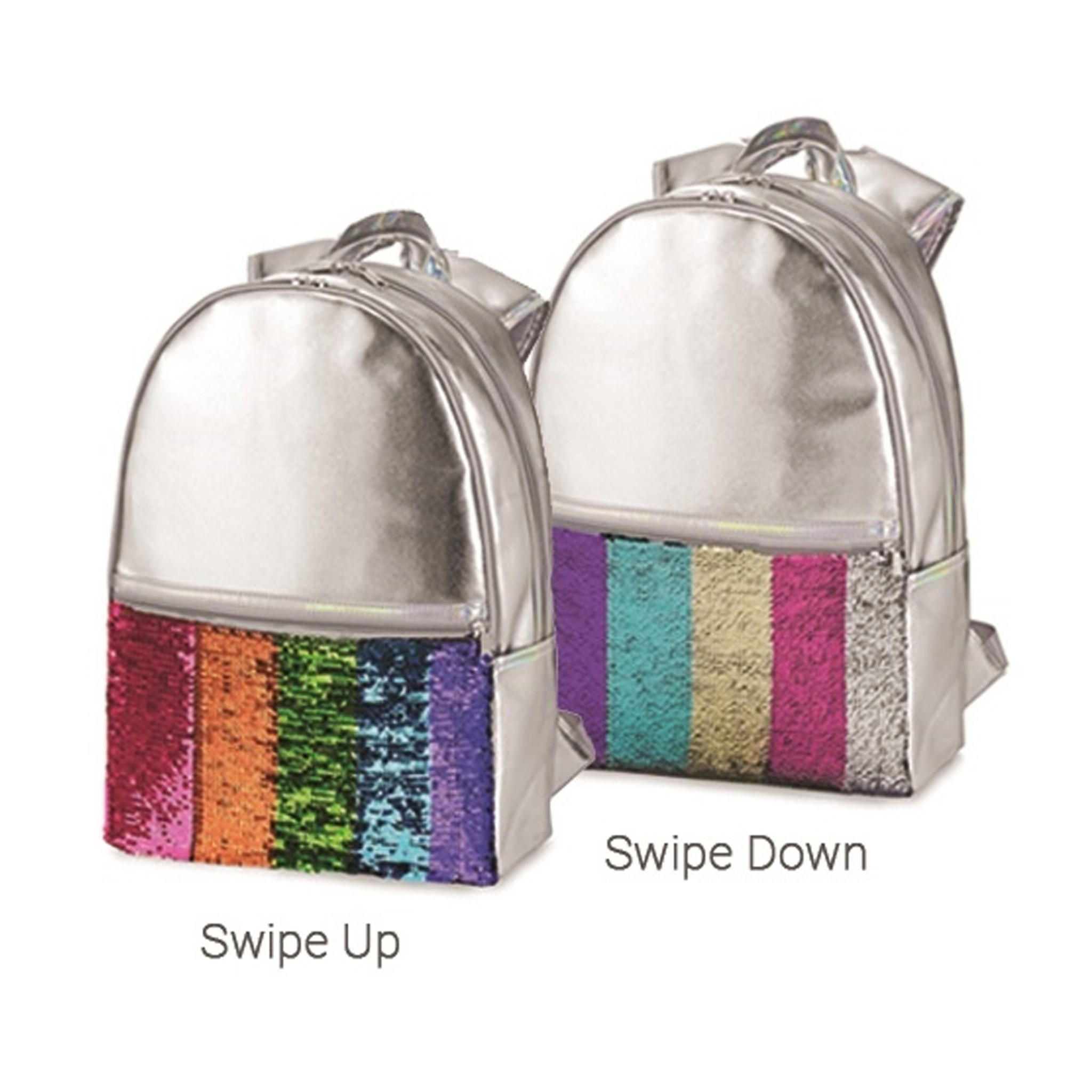 Rainbow Stripe Reservible Sequin Backpack