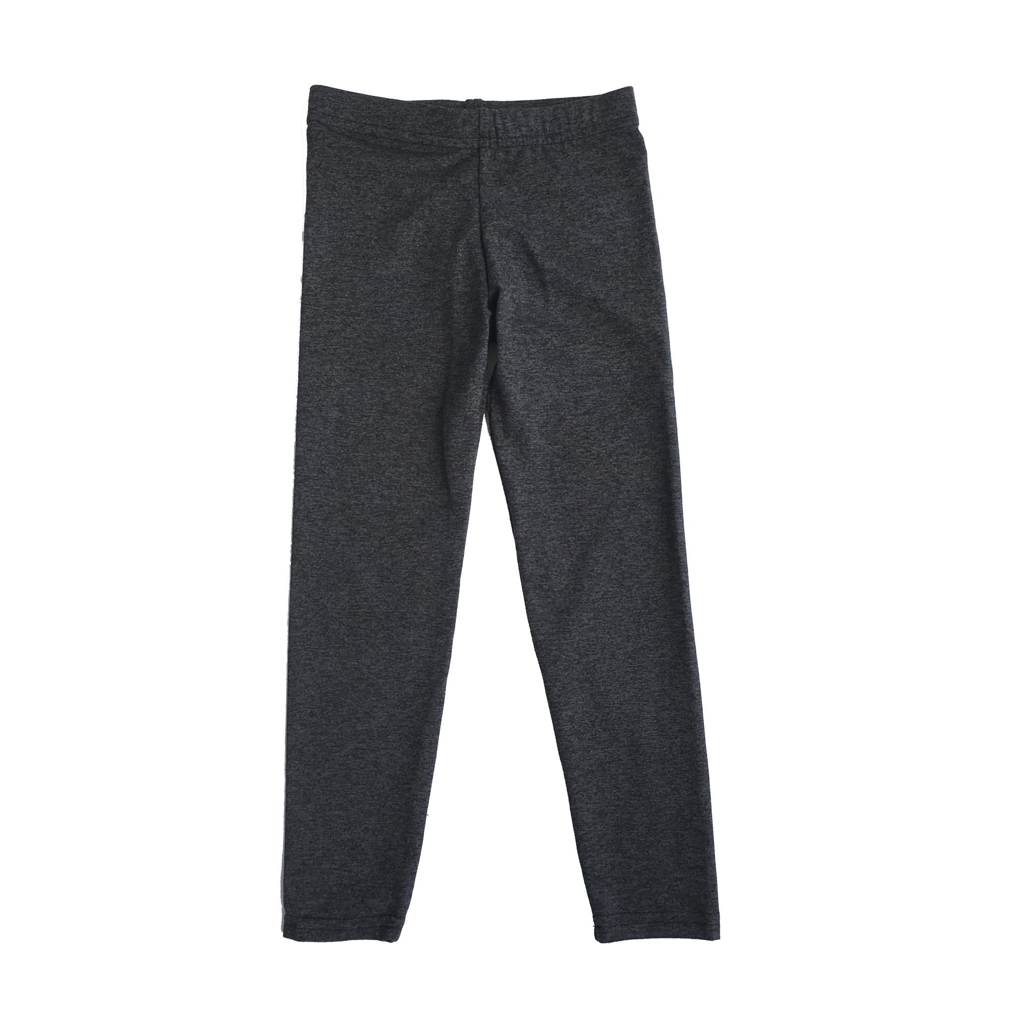 Dori Creations Charcoal/Black Heathered Junior Legging