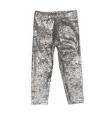Dori Creations Infant Silver Crushed Velvet Legging