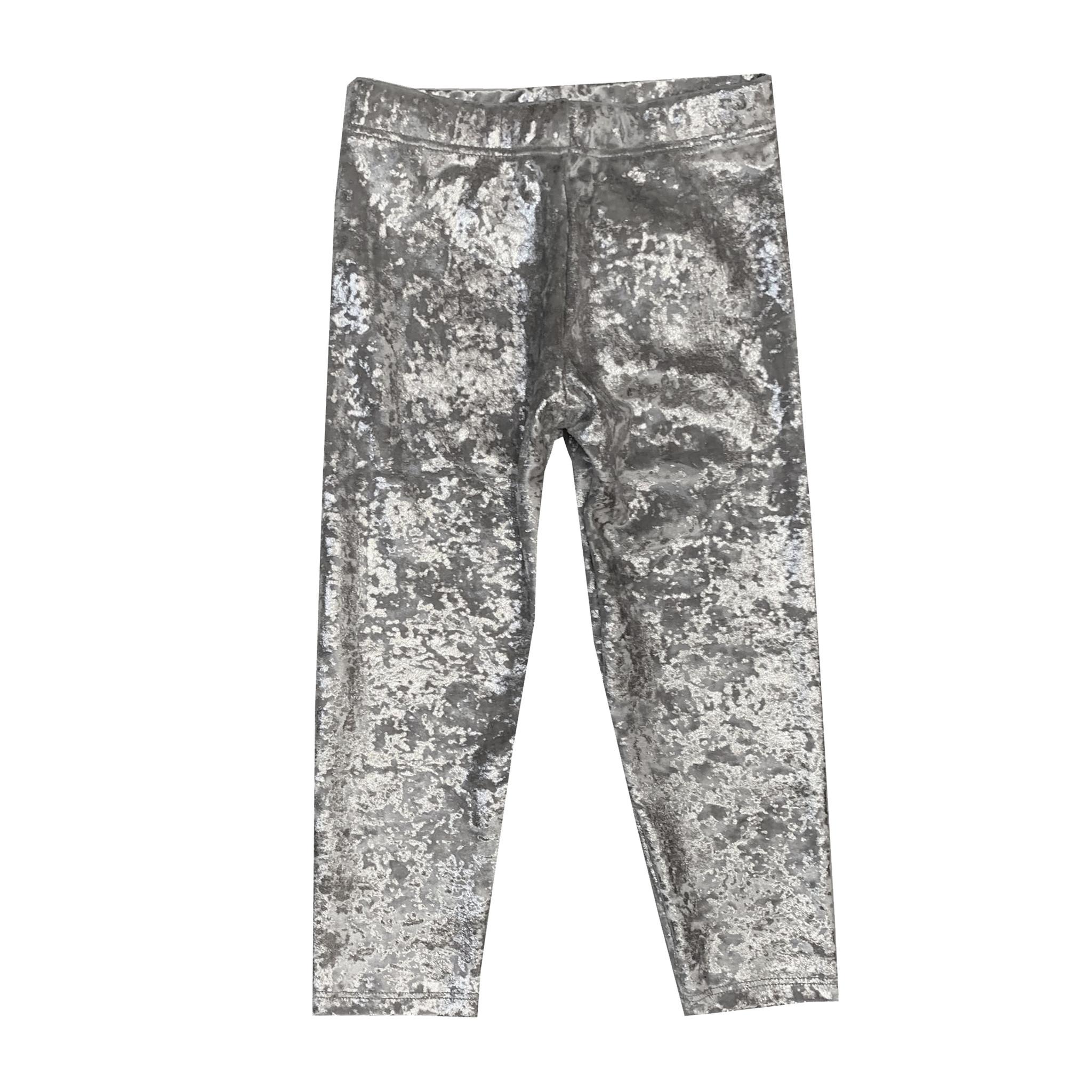 Dori Creations Infant Silver Crushed Velvet Legging