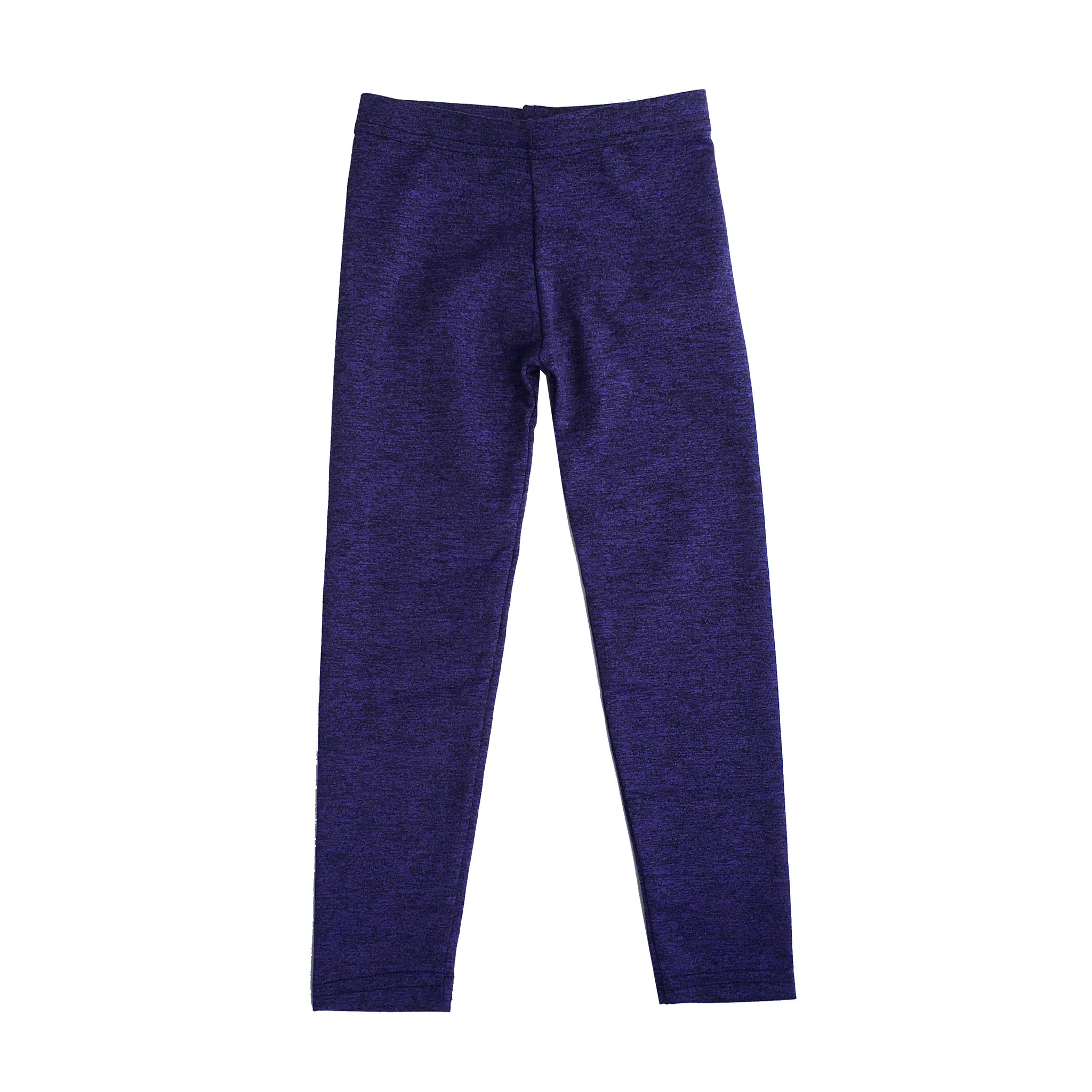 Dori Creations Purple/Black Heathered Legging