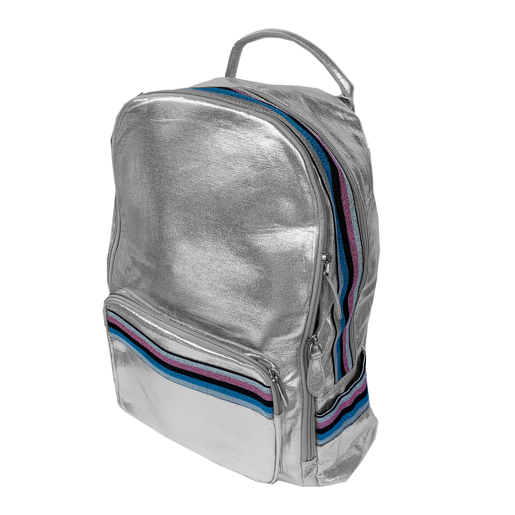 Bari Lynn Silver Backpack with Taping