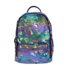 Bari Lynn Holographic Galaxy Print Backpack