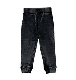Mish Black Distressed Denim Joggers