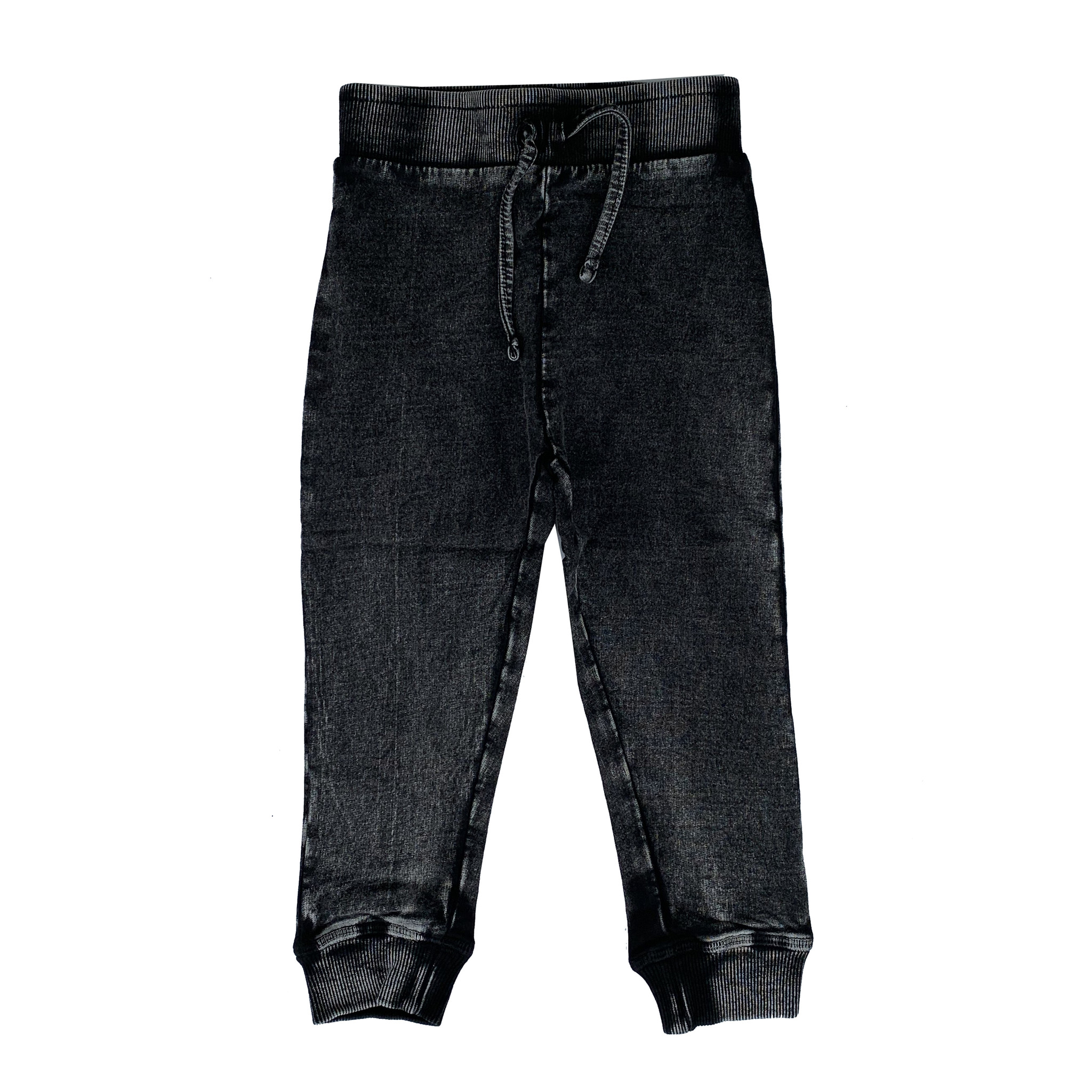 Mish Black Distressed Denim Joggers
