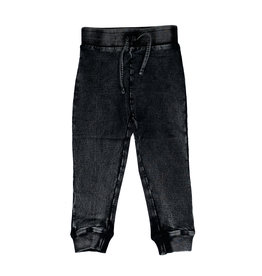 Mish Black Distressed Denim Infant Joggers
