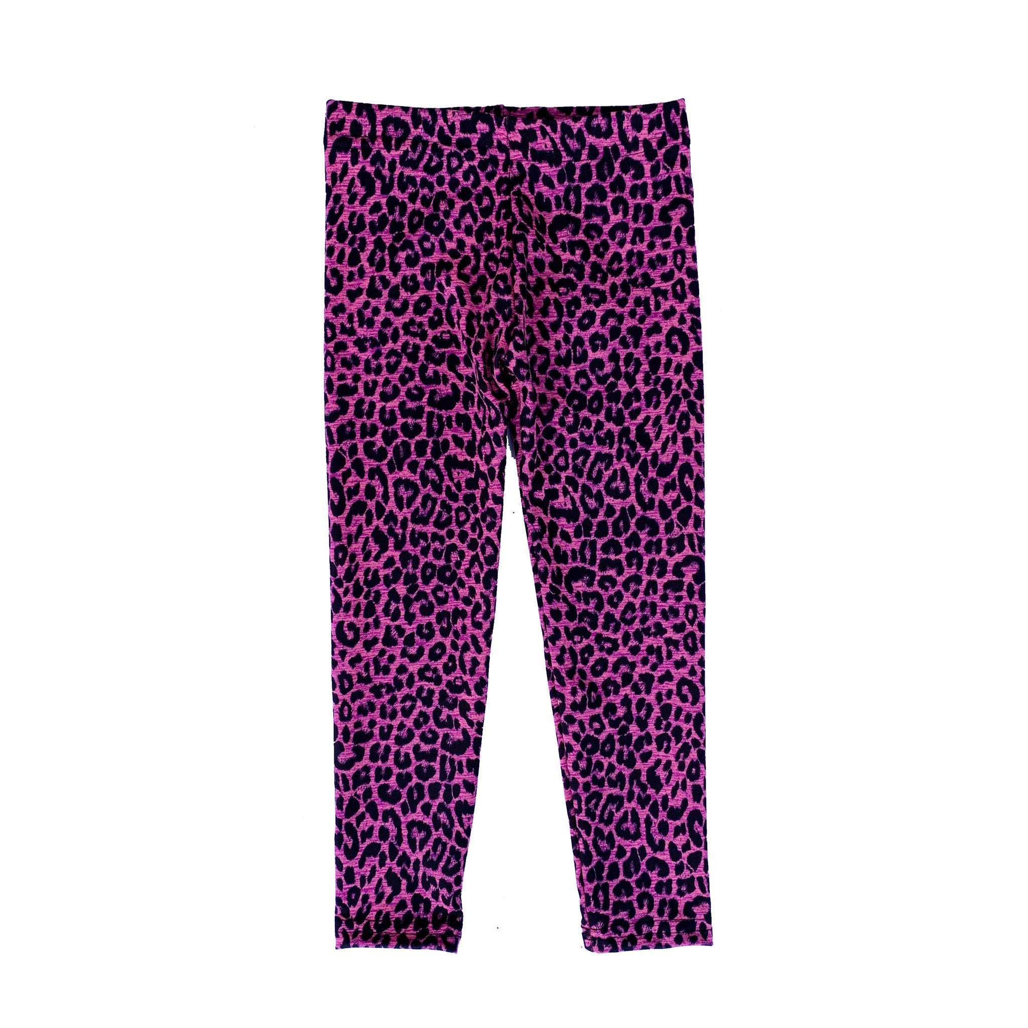 Dori Creations Pink Leopard Heathered Legging