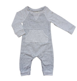 Miki Miette Heathered Grey Romper