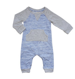Miki Miette Heathered Blue Romper