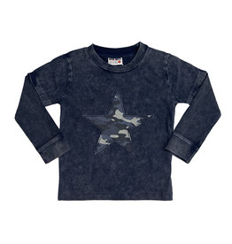 Mish Infant Navy Enzyme Camo Star Top