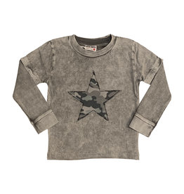 Mish Infant Coal Enzyme Camo Star Top
