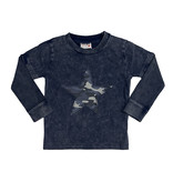 Mish Navy Enzyme Camo Star Top