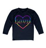 Firehouse Rainbow Love Heart 3/4 Sleeve Top