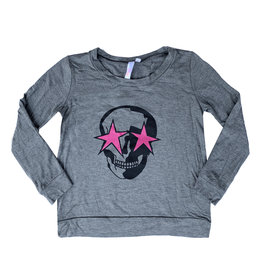 Malibu Sugar Charcoal Star Eyes Skull Top
