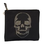 Travel Pouch (Large) Black Skull