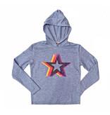 Firehouse Blue Starburst Hooded Pullover