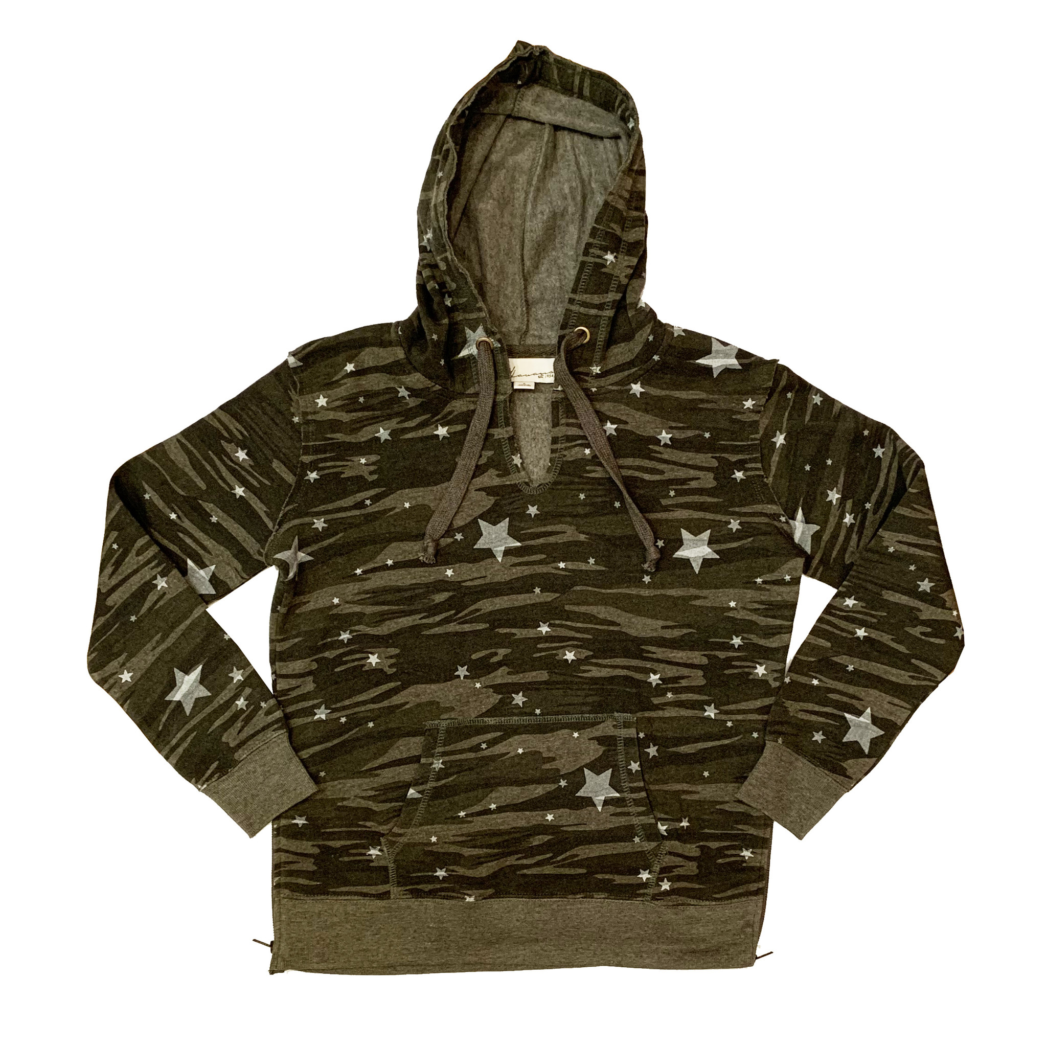 Vintage Havana Junior Olive Camo Side Zip Hooded Pullover