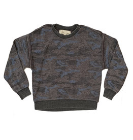 Vintage Havana Junior Camo Reverse Burnout Sweatshirt