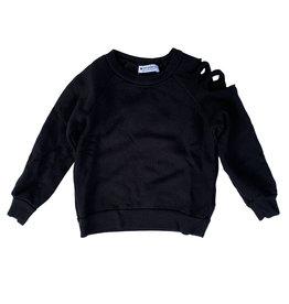 LA Made Black Slashed Sleeve Infant Sweatshirt