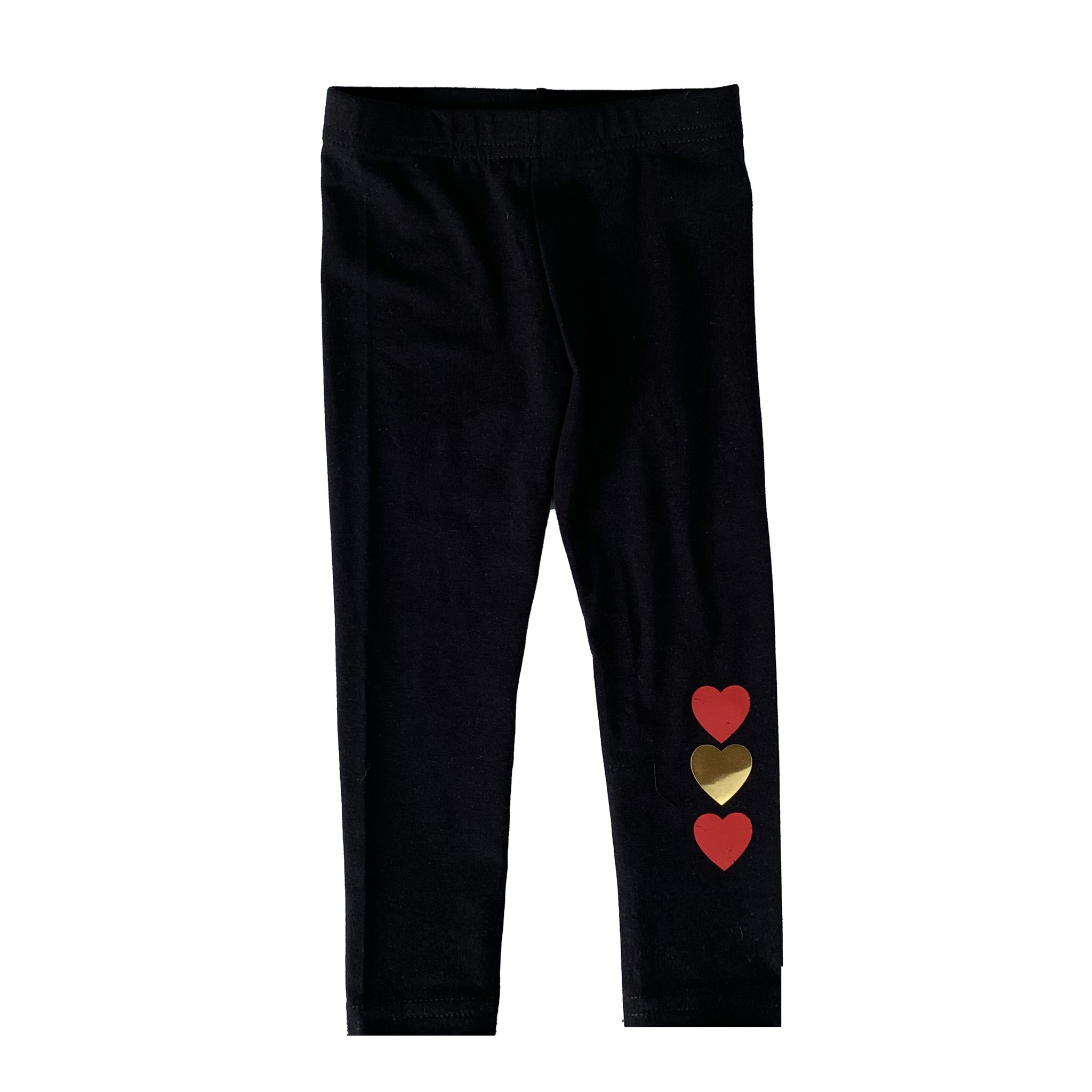 Firehouse Red & Gold Heart Leggings