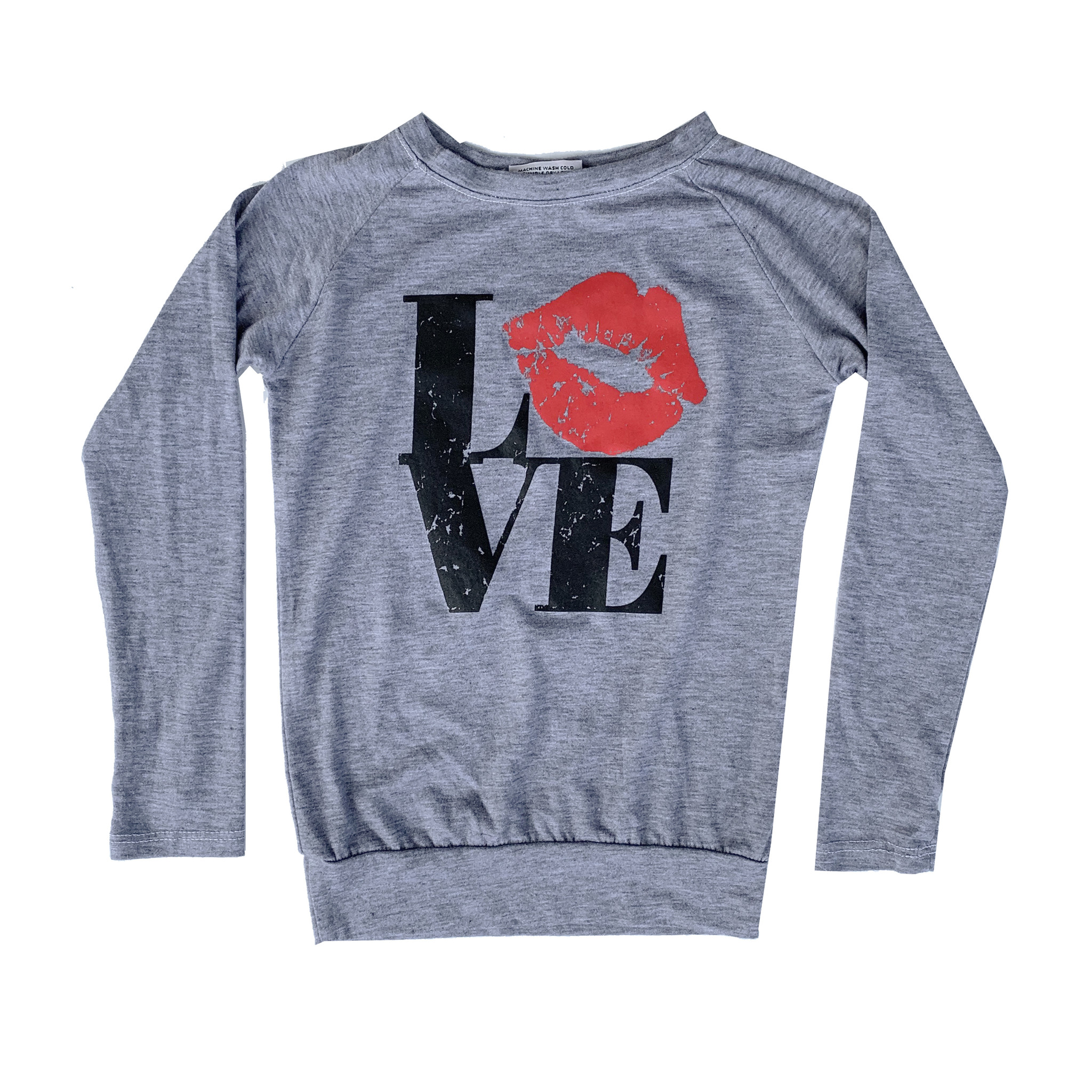Firehouse Red Lip Love Top