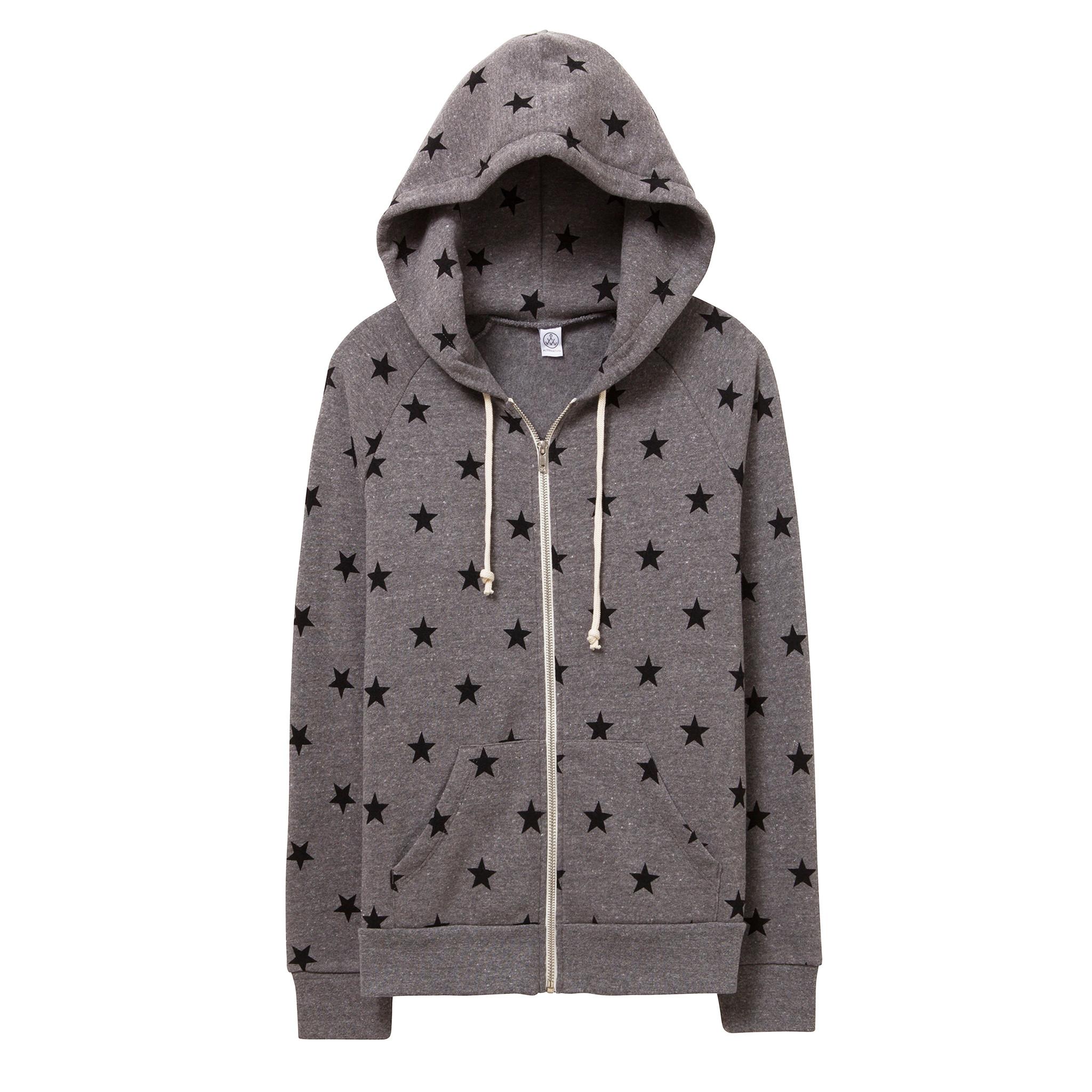 Alternative Black Star Zip Hoodie