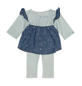 Miki Miette Infant Denim Galaxy Legging Set