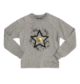 Project Riot Open Star Ripped Sweatshirt