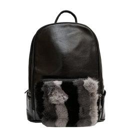 Bari Lynn Fur Front Backpack