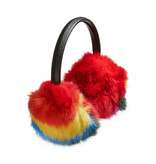 Bari Lynn Rainbow Fur Earmuffs