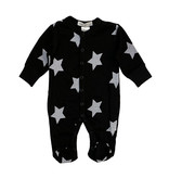 Little Mish Black & White Star Thermal Footie