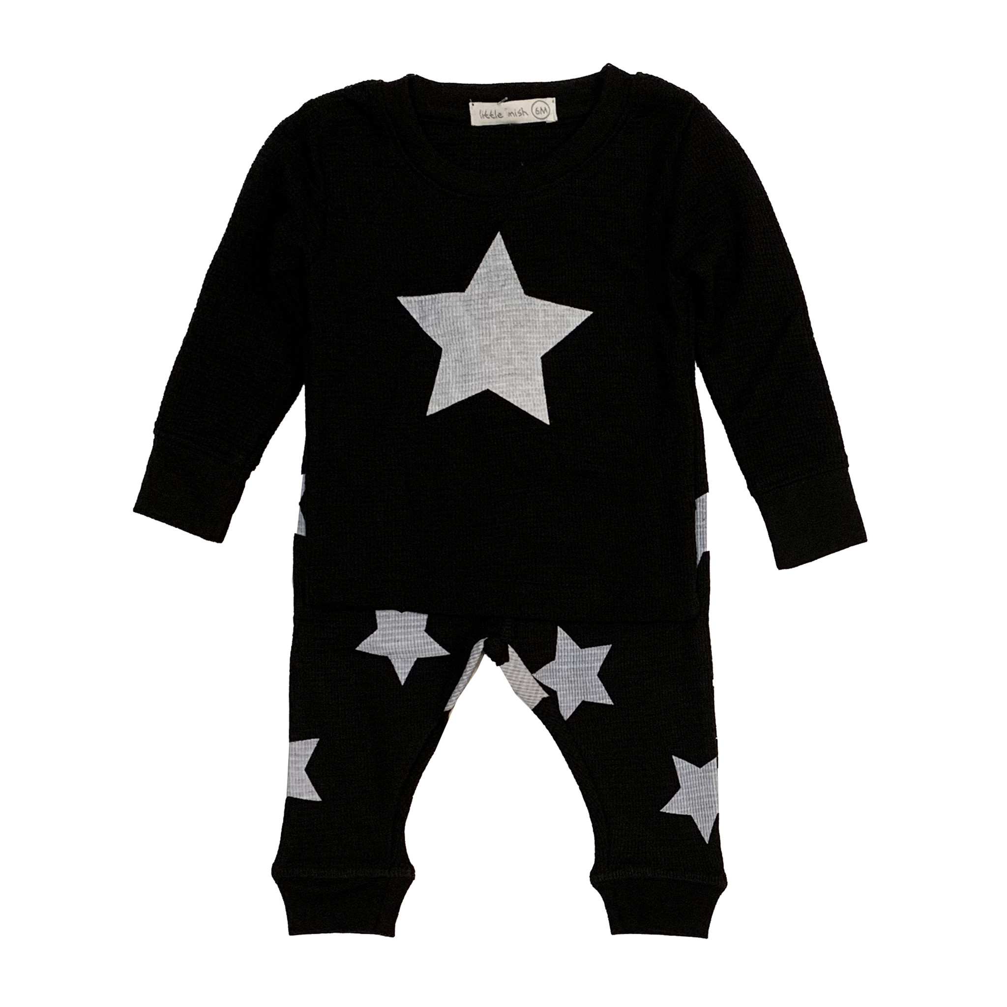 Little Mish Black & White Star Set