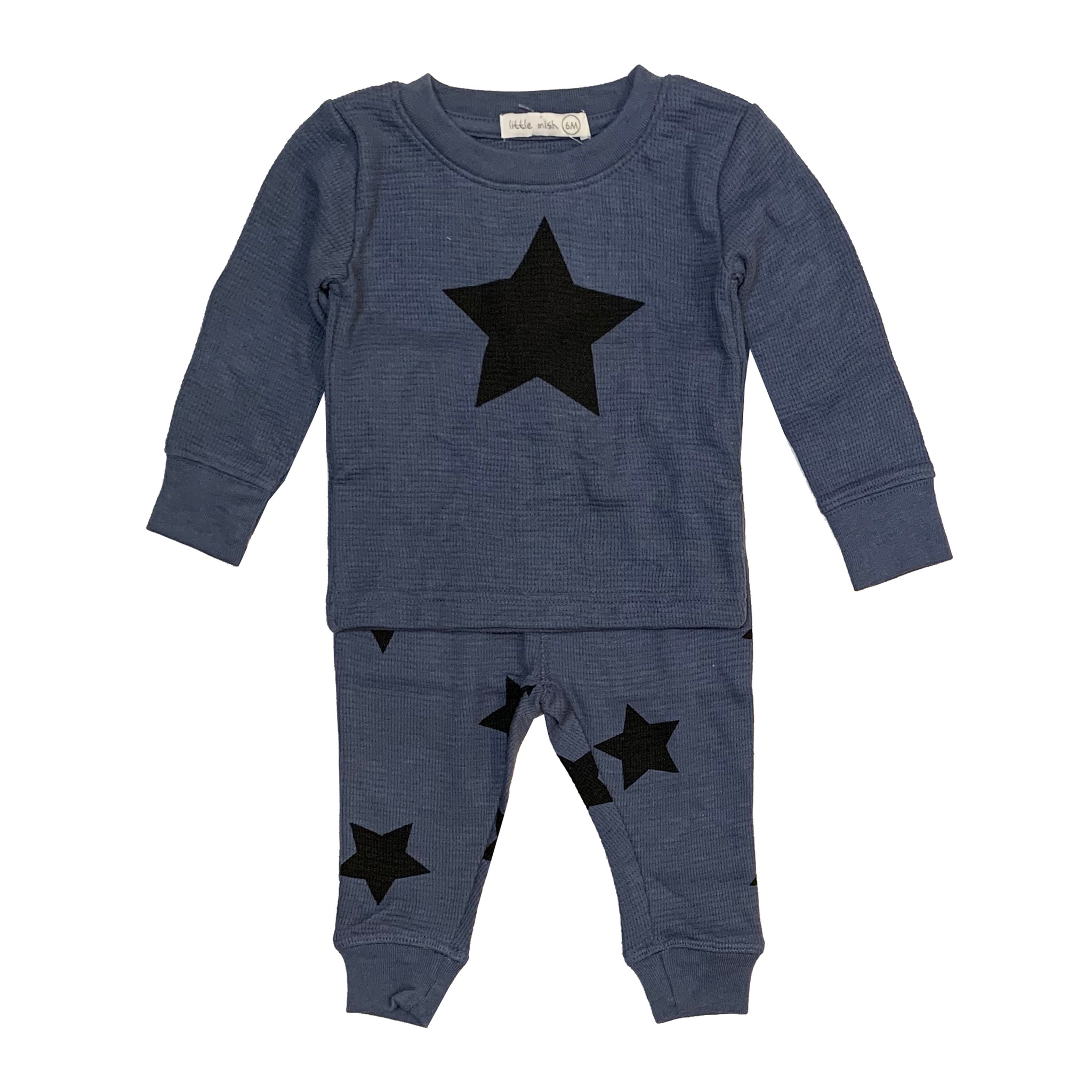 Little Mish Denim & Black Star Set