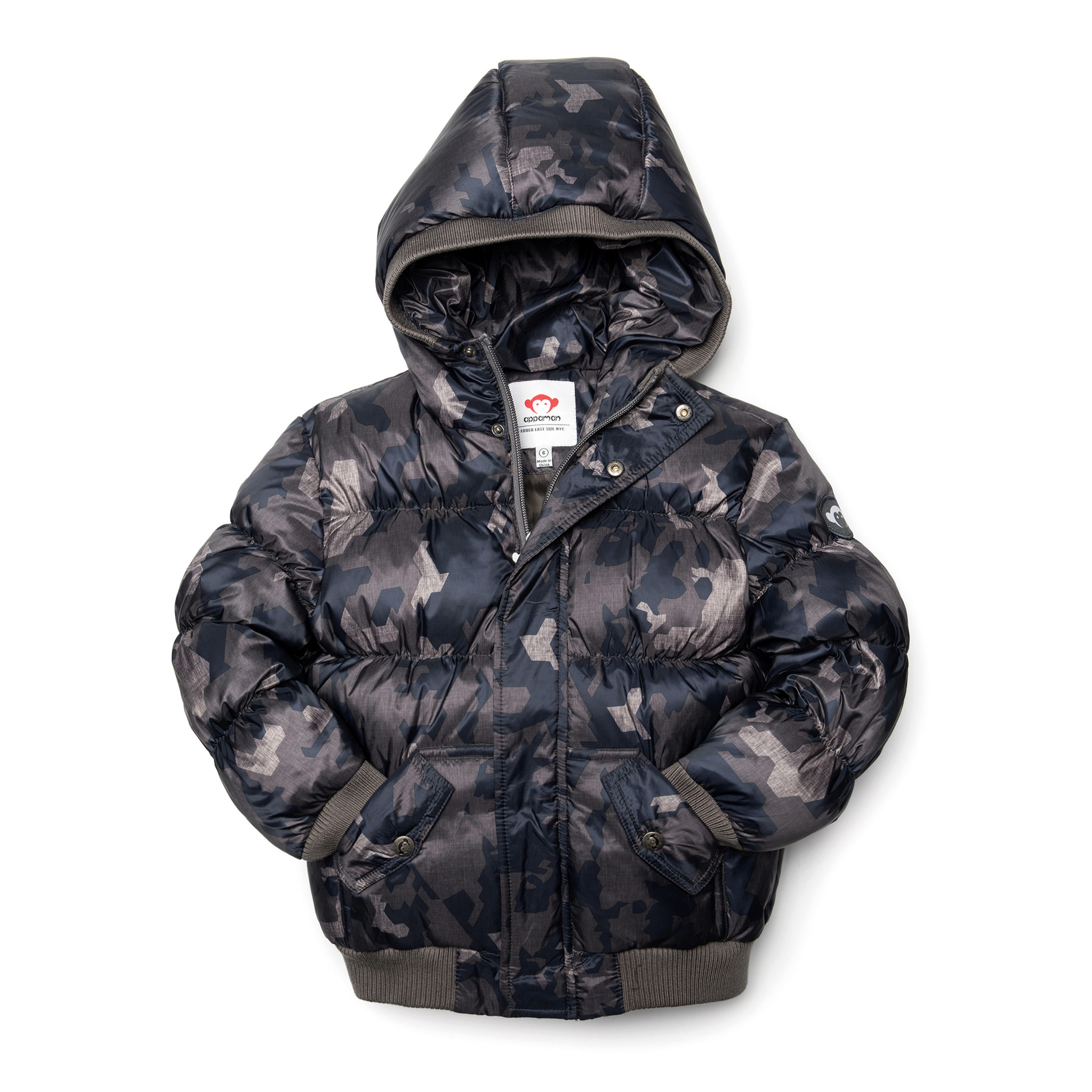 Appaman Abstract Camo Puffy Coat