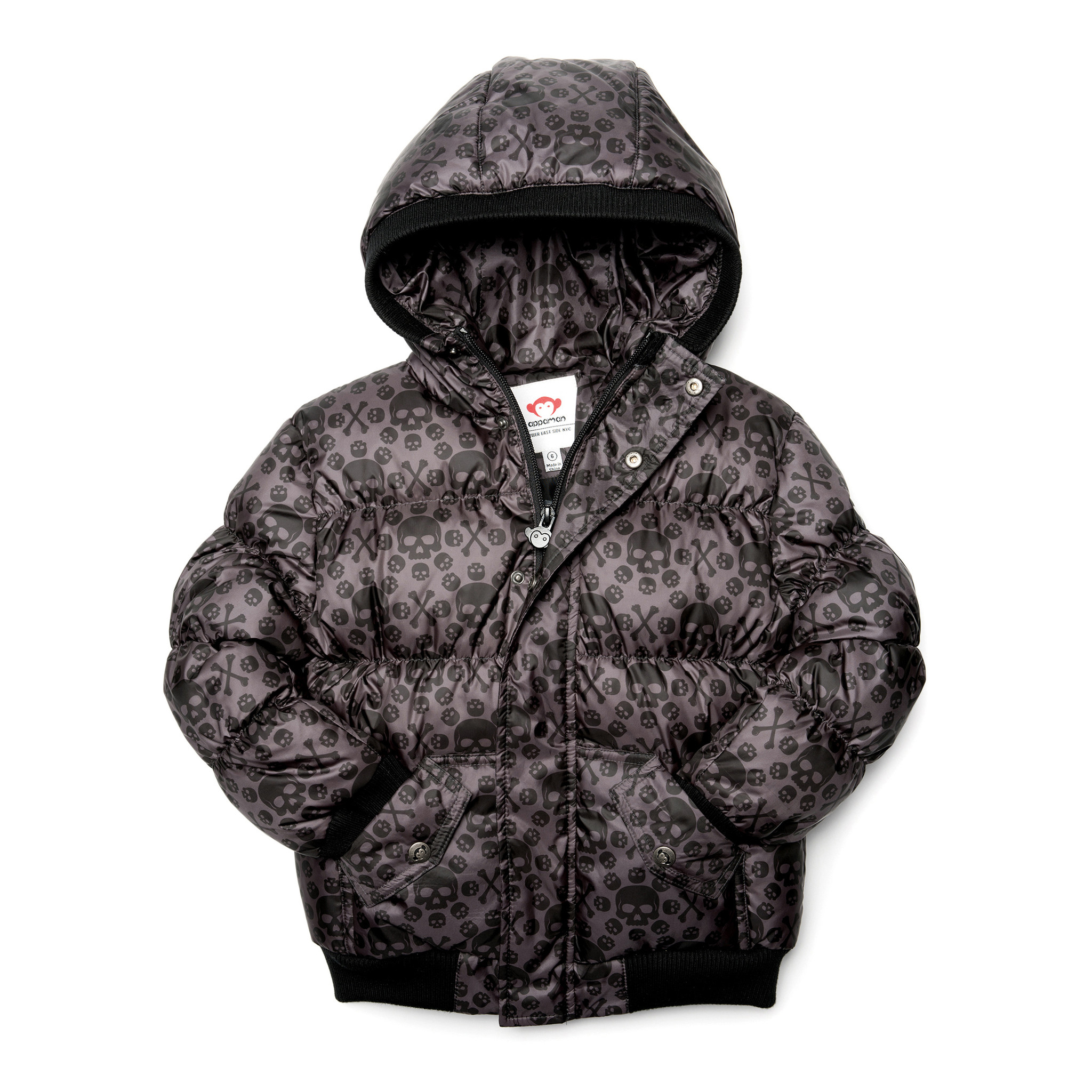 Appaman Skull Print Puffy Coat