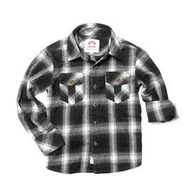 Appaman Greyscale Plaid Flannel Shirt