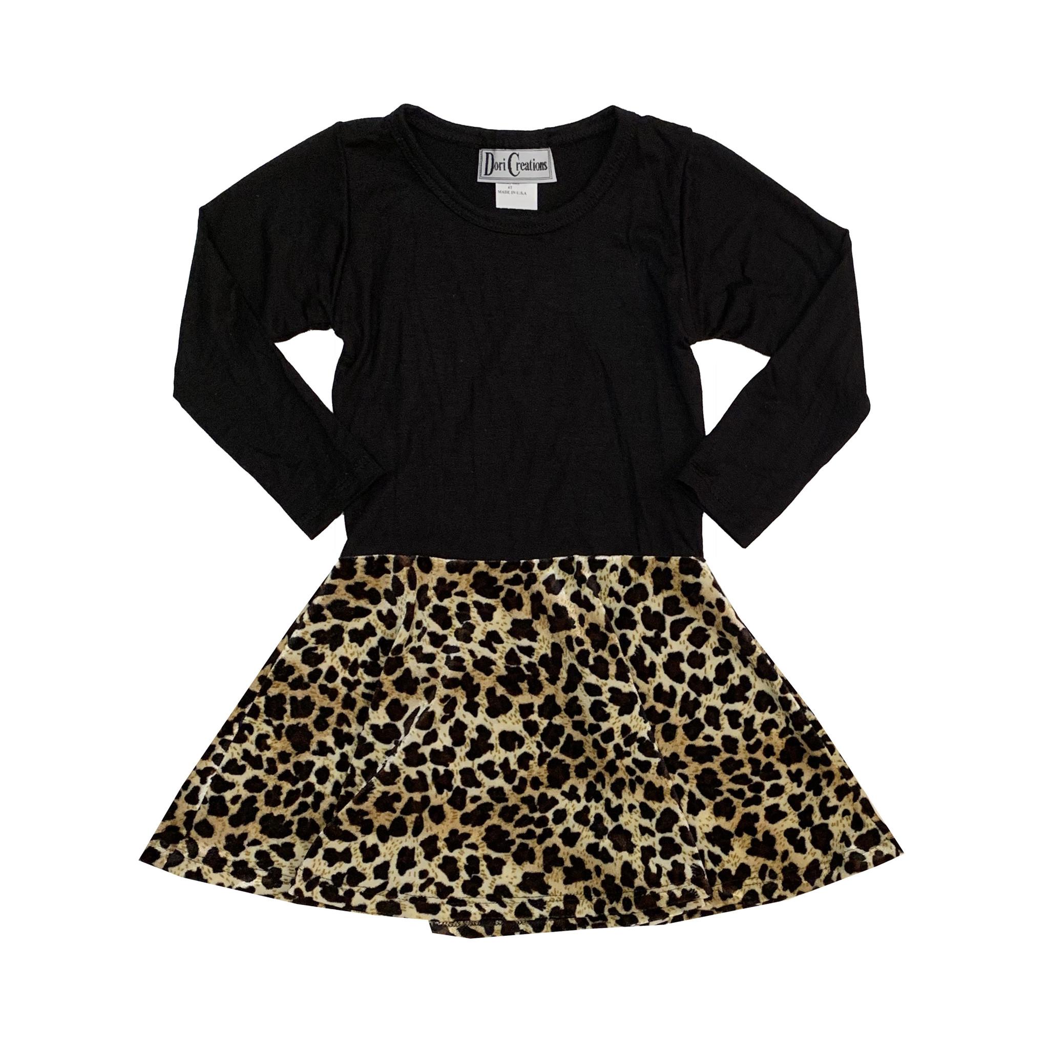 Dori Creations Leopard Velour Dress