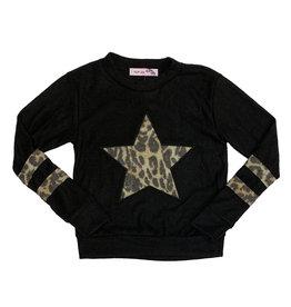 Vintage Havana Leopard Star Fleece Pullover