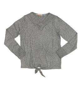 Vintage Havana Grey V-Neck Tie Front Sweater