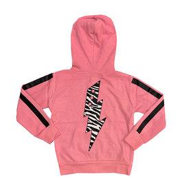 Vintage Havana Pink Zebra Bolt Zip Hoodie