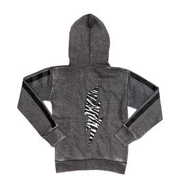 Vintage Havana Charcoal Zebra Bolt Zip Hoodie