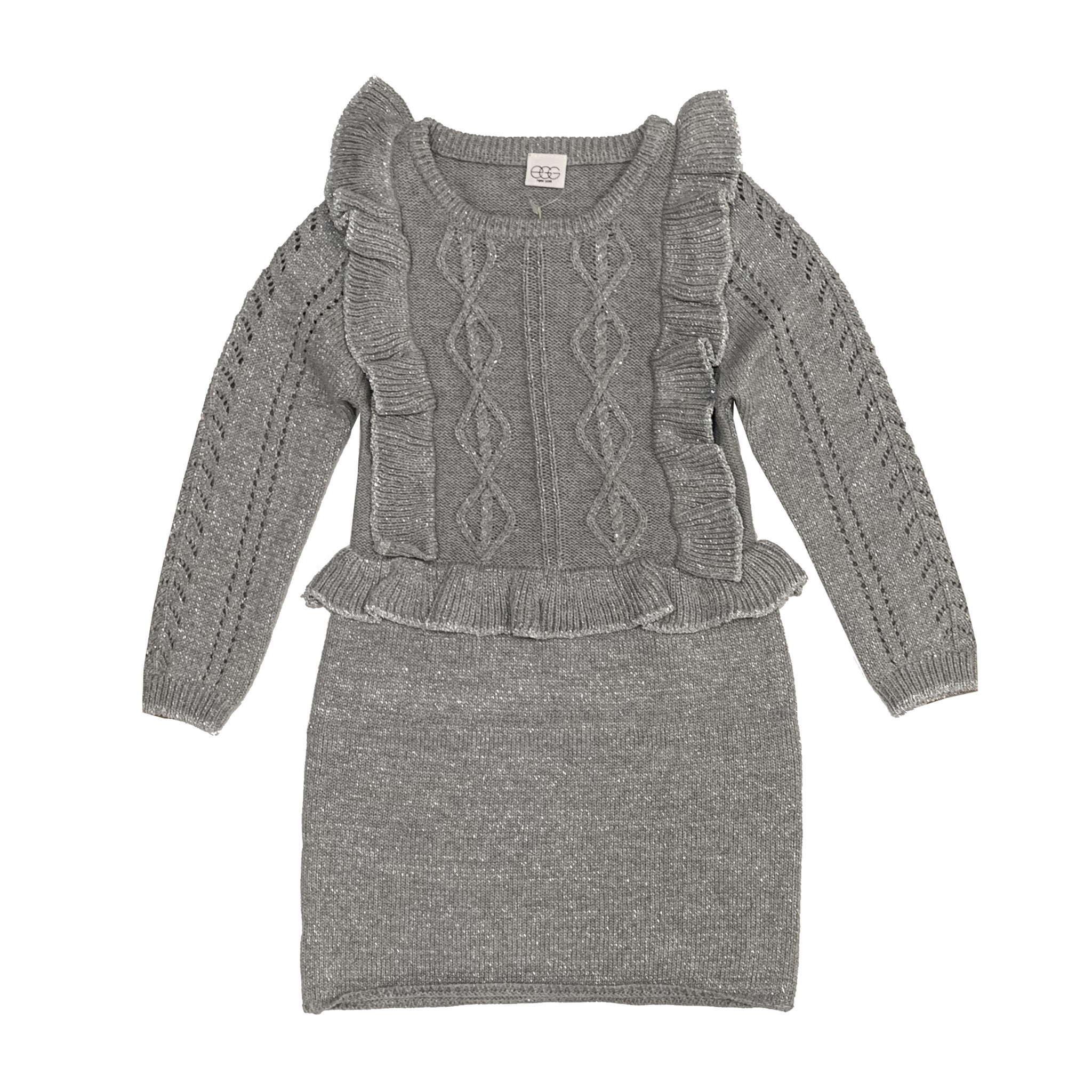 EGG Sparkly Ruffle Sweater Dress