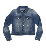 Womens Distressed Denim Jacket