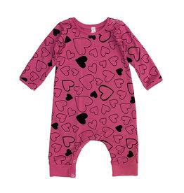 Pink Peony Hot Pink Confetti Love Romper 3-6M