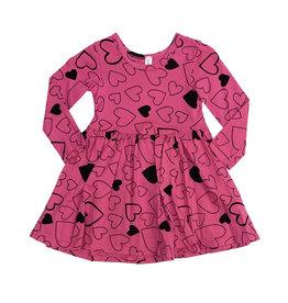 Pink Peony Hot Pink Confetti Love Dress