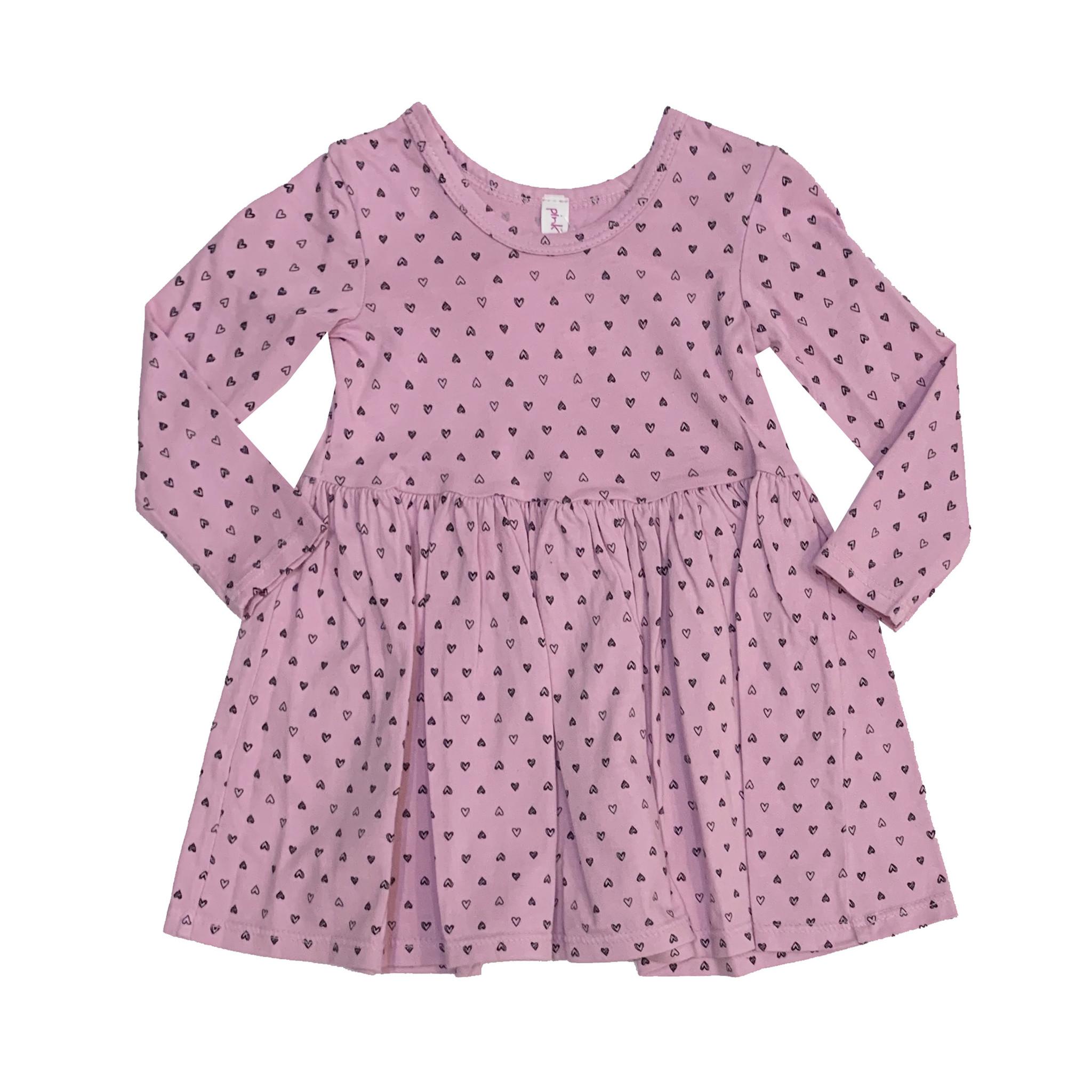 Pink Peony Light Pink Confetti Hearts Dress